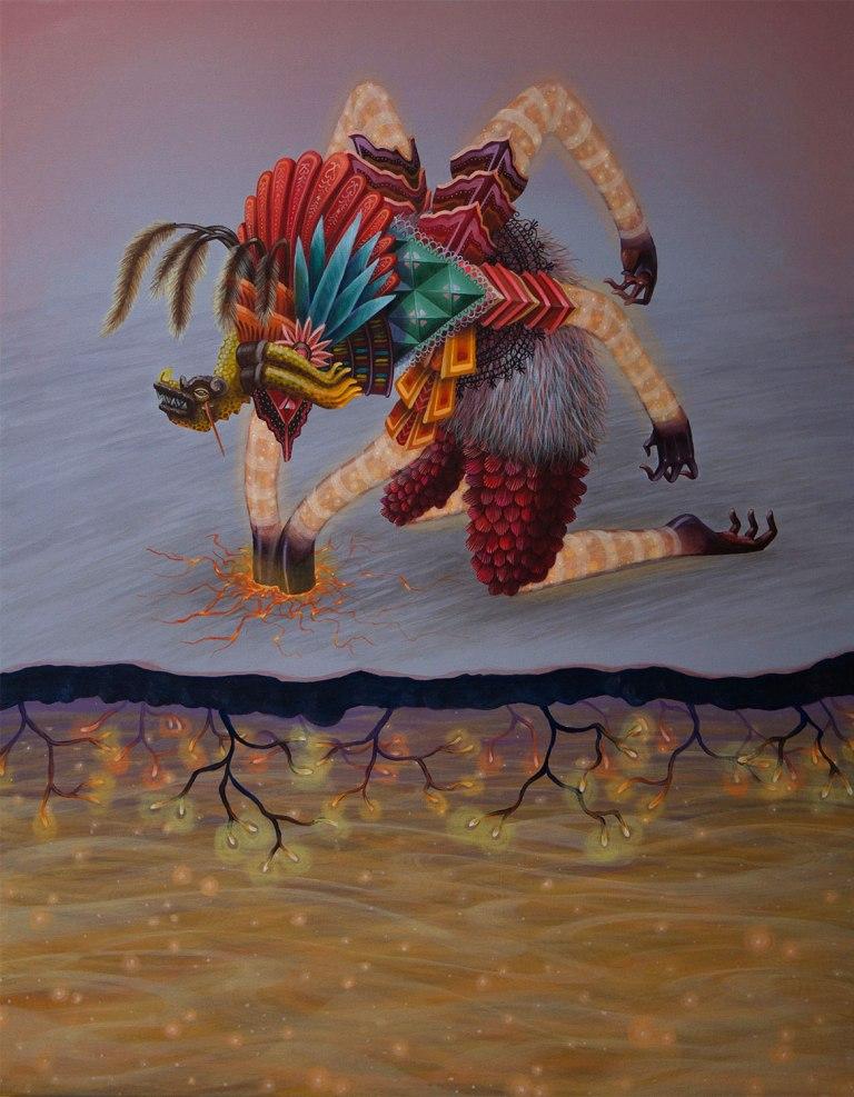 """""""Sembrando energía"""", pieza dentro de la exposición (imagen fifty24mx.com)"""